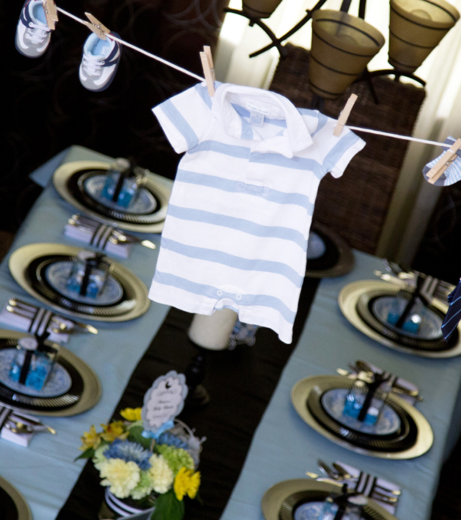 baby shower en azul